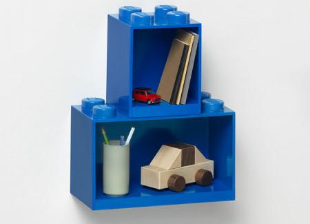 Set 2 rafturi Caramida LEGO - Albastru