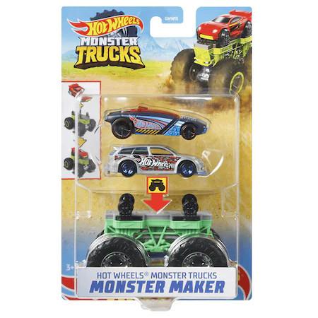 Set Hot Wheels by Mattel Monster Trucks Monster Maker