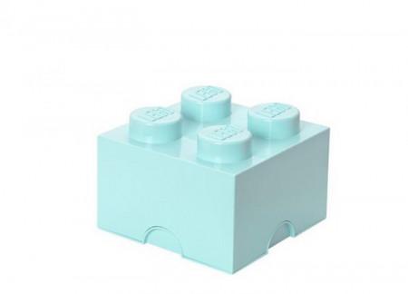Cutie depozitare LEGO 2x2 albastru aqua