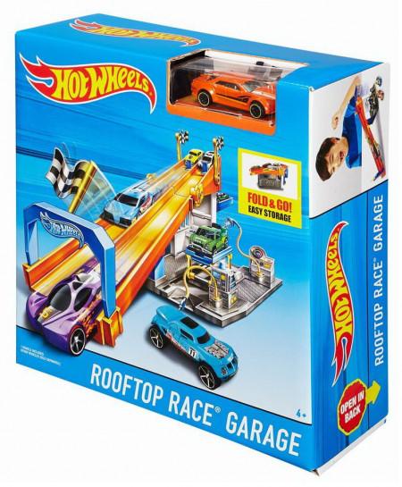 Hot Wheels: Set de joacă Garaj și curse pe acoperiș