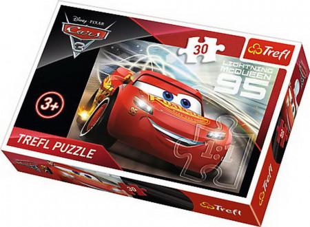 Puzzle Trefl, Disney Cars 3, Fulger Mcqueen, 30 piese