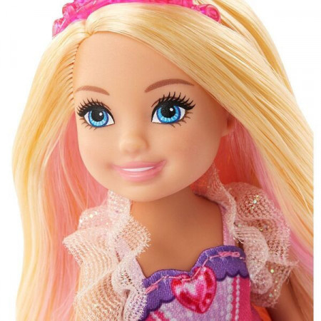 Set papusa Barbie Dreamtopia Chelsea - Printesa si Manjii de Unicorn