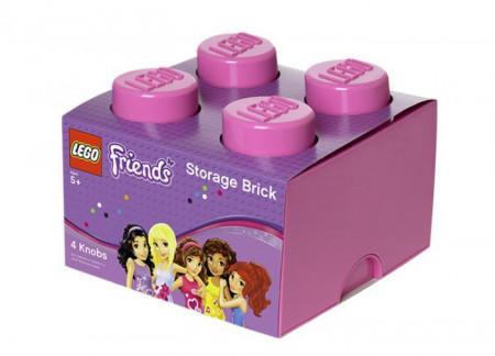 Cutie depozitare LEGO Friends 2x2 roz