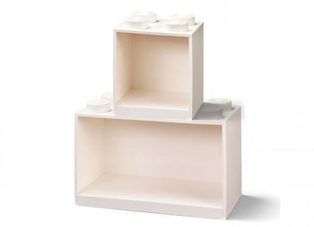 Set 2 rafturi Caramida LEGO - Alb