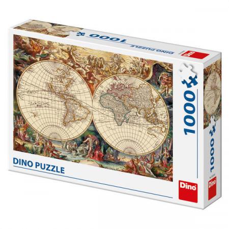 Puzzle 1000 piese- harta lumii antice
