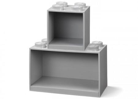 Set 2 rafturi Caramida LEGO - Gri