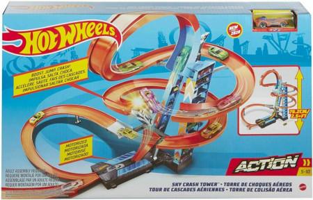 Set de Joaca Hot Wheels - Sky Crash Tower Car