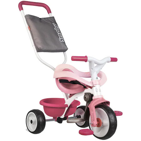 Tricicleta Smoby Be Move Comfort, cu roti silentioase, roz