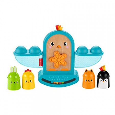 Pasare Echilibru Fisher Price - Stack and Rattle Birdie