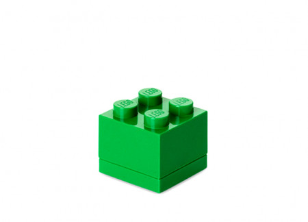 Mini cutie depozitare LEGO 2x2 verde inchis