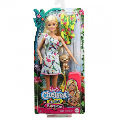 Papusa Barbie Chelsea in Rochie Tropicala The Lost Birthday
