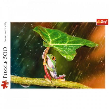 Puzzle Trefl, Umbrela verde, 500 piese