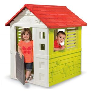 Casuta pentru copii Smoby,Verde-Rosu