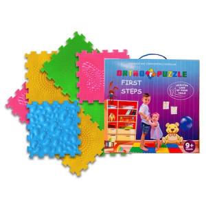 Covor ortopedic pentru copii First Steps, Ortho Puzzle, PVC, multicolor