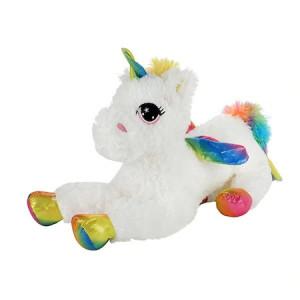 Jucarie de Plus Toi Toys,Unicorn Alb,30cm