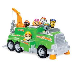 Masinuta Paw Patrol Total Team Rescue - Rocky cu masina de reciclat
