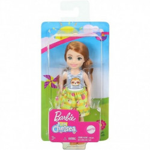 Papusa Barbie, Chelsea cu par roscat, 15 cm