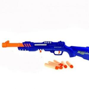 Pusca cu gloante de spuma Foam Blaster Shotgun,63 cm,Albastra