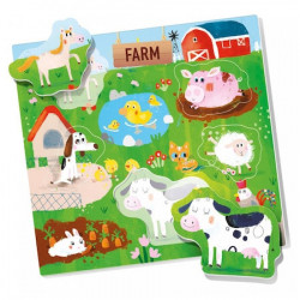 Puzzle Headu Montessori- Sa potrivim animalele, 6 cartonase, 30 forme