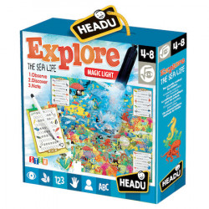 Puzzle Headu S.T.E.M. - Explorati viata marina, 70 piese