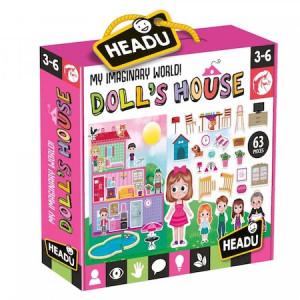 Puzzle Headu Teacher - Casa papusii, 63 piese