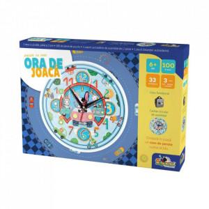 Puzzle Noriel Ora de Joaca-Puzzle cu Ceas Masinute