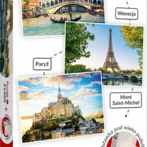 Puzzle Trefl 3x500 piese,Venetia,Paris,Mont Saint Michel
