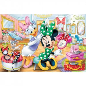 Puzzle Trefl, Disney Minnie la salonul de infrumusetare, 100 piese