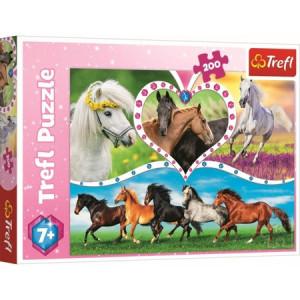 Puzzle Trefl, Frumosii Cai, 200 piese