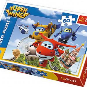 Puzzle Trefl, Super Wings, Zbor in jurul lumii, 60 piese