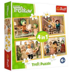 Puzzle Trefl - Treflikow, 35/48/54/70 piese