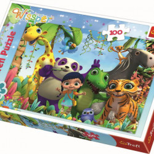 Puzzle Trefl, Wissper si prietenii, 100 piese