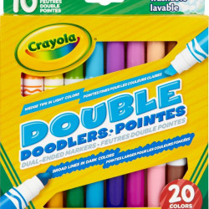 Set 10 carioci Crayola cu doua Capete,lavabile,multicolor