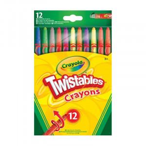 Set 12 Creioane Cerate Crayola Twistable,multicolor