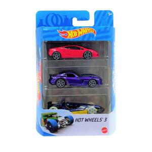 Set 3 masinute metalice Hot Wheels,1:64,multicolor,929
