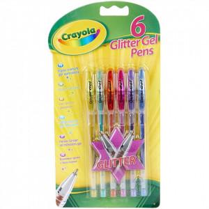 Set 6 pixuri Crayola cu Gel si Glitter,multicolor