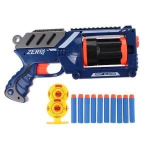 Set Air Blaster pistol cu gloante din spuma si tinte, Toi Toys