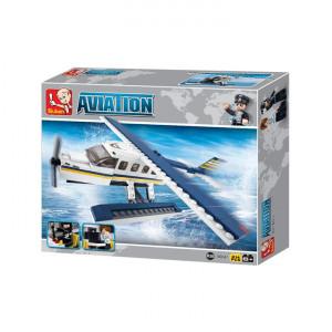 Set constructie Sluban - Hidroavion, 214piese