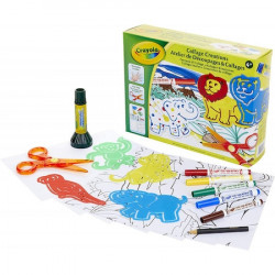Set Craft Crayola cu Sabloane Animale Salbatice