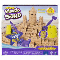 Set Kinetic Sand - Castelul de nisip, 1400g