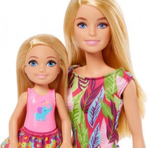 Set Papusi Barbie si Chelsea Lost Birthday cu Animale de Companie si Accesorii