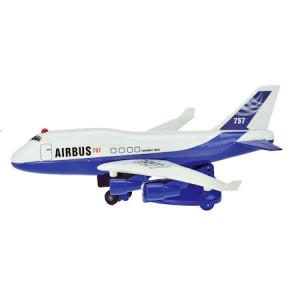 Avion de pasageri cu lumini, sunete si tren de aterizare, Toi Toys, 25.5 cm