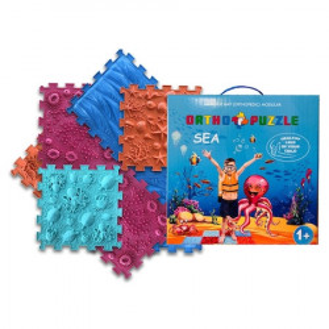 Covor ortopedic pentru copii Sea, Ortho Puzzle, PVC, multicolor
