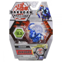 Figurina Bakugan Armored Alliance - Maxodon Albastru, cu card Baku-Gear
