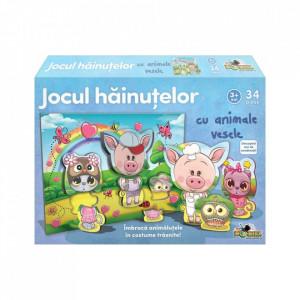 Joc Educativ Noriel - Jocul hainutelor cu animale vesele, 36 piese
