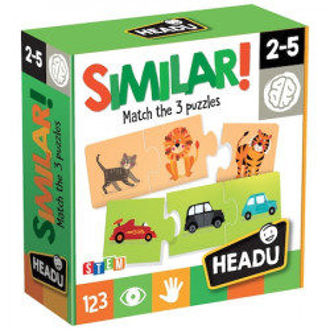 Puzzle Headu S.T.E.M. - Similar!, 36 piese, 12 ipostaze