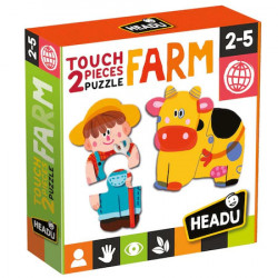 Puzzle Headu Teacher Tested Touch 2 Pieces - Ferma, 15 personaje