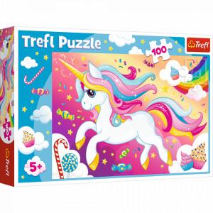 Puzzle Trefl 100piese - Frumosul Unicorn