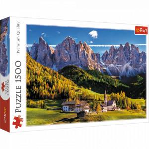 Puzzle Trefl 1500piese - Val di Funes, Dolomiti, Italia