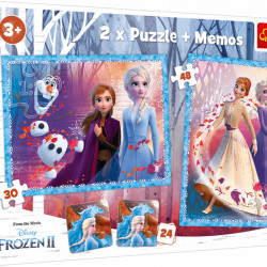 Puzzle Trefl 2in1 Memo Frozen2 -Tinutul Misterios